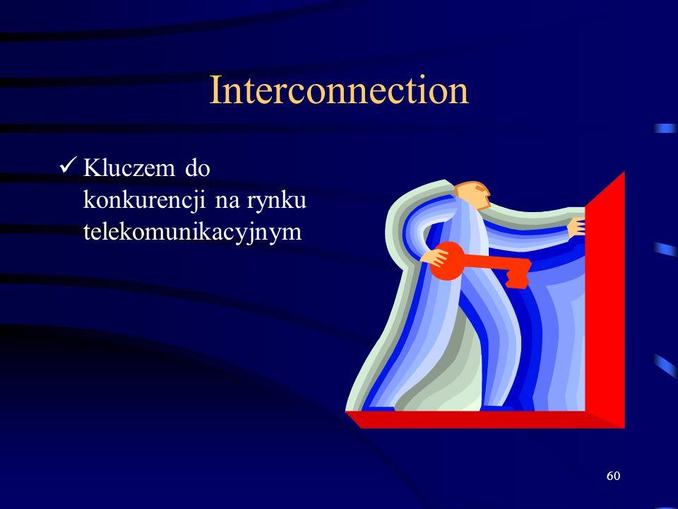 Interconnection Kluczem do konkurencji na rynku telekomunikacyjnym