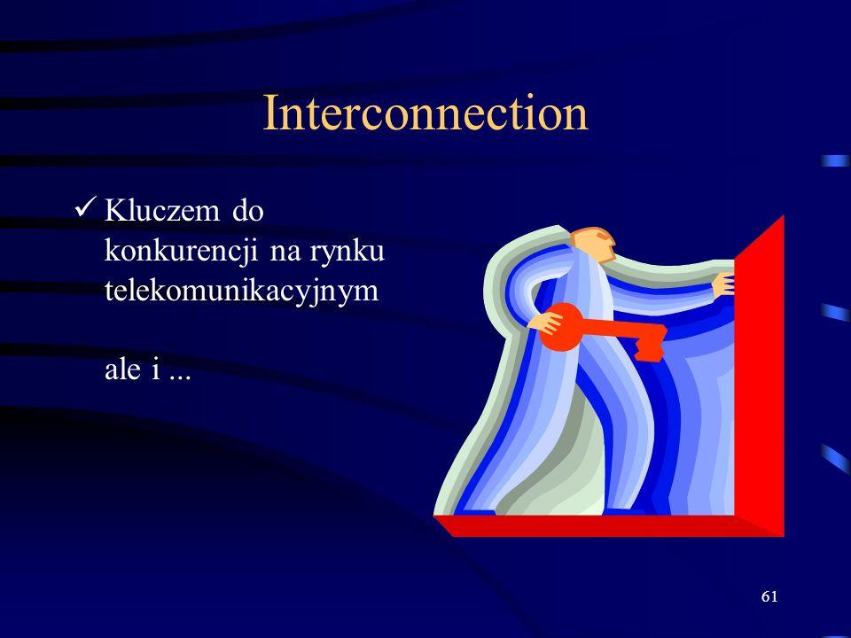 Interconnection Kluczem do konkurencji na rynku telekomunikacyjnym ale i ...