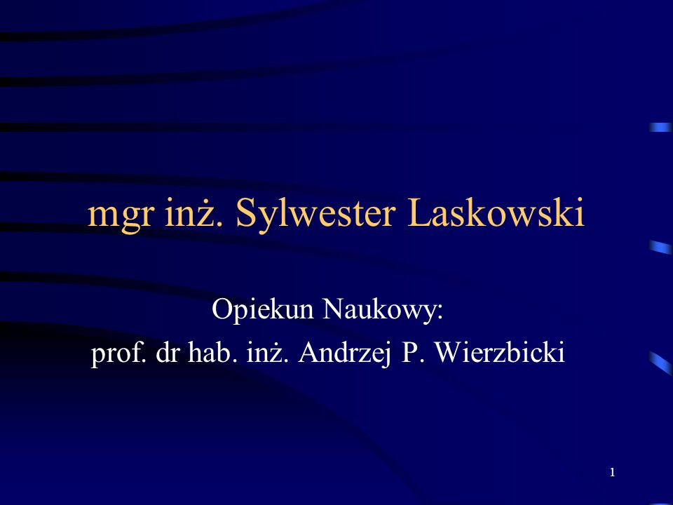 mgr inż. Sylwester Laskowski