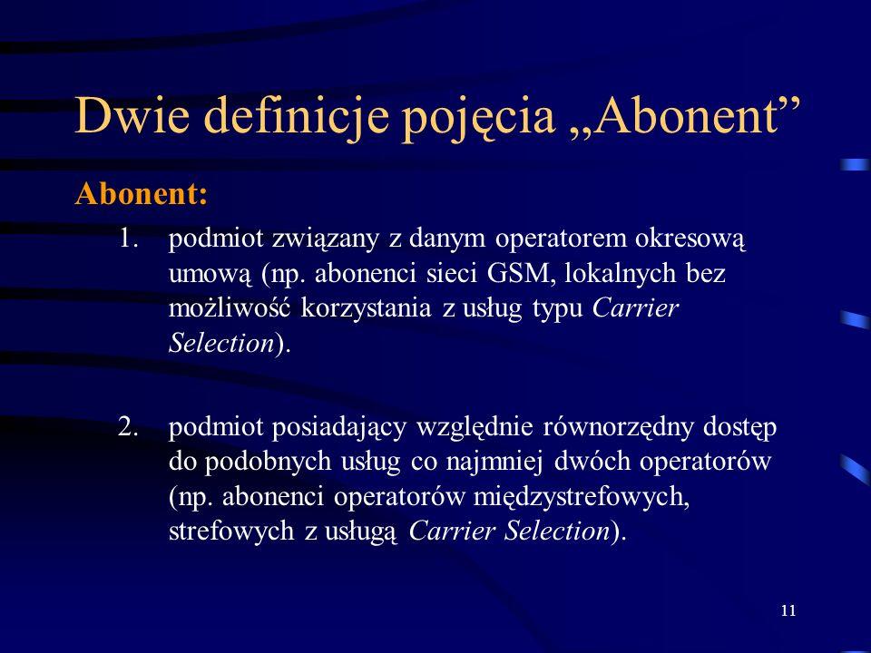 """Dwie definicje pojęcia """"Abonent"""