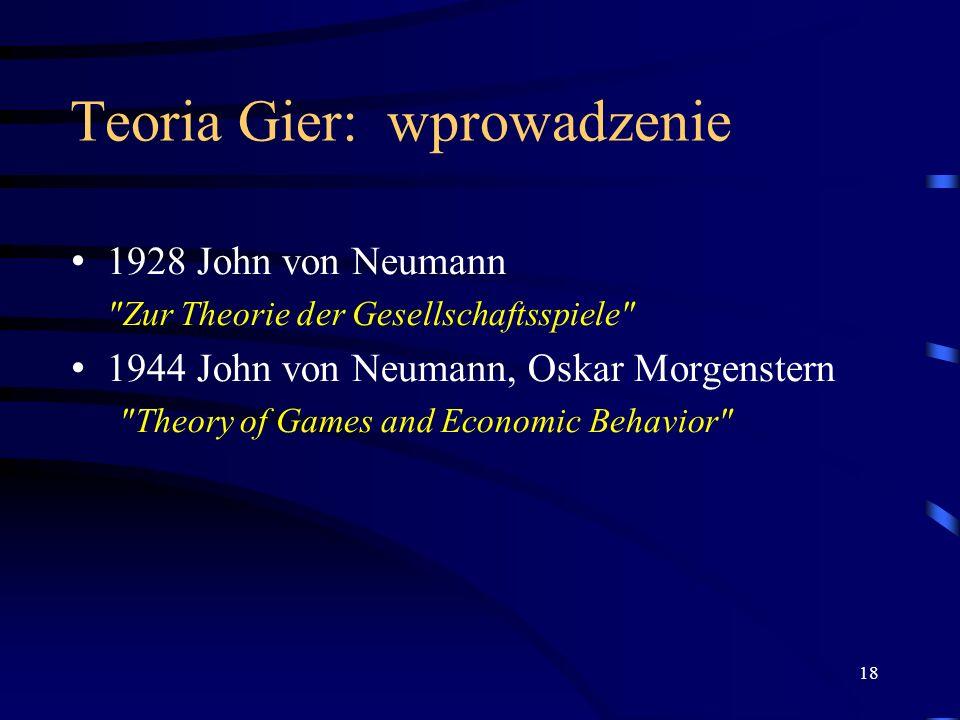 Teoria Gier: wprowadzenie