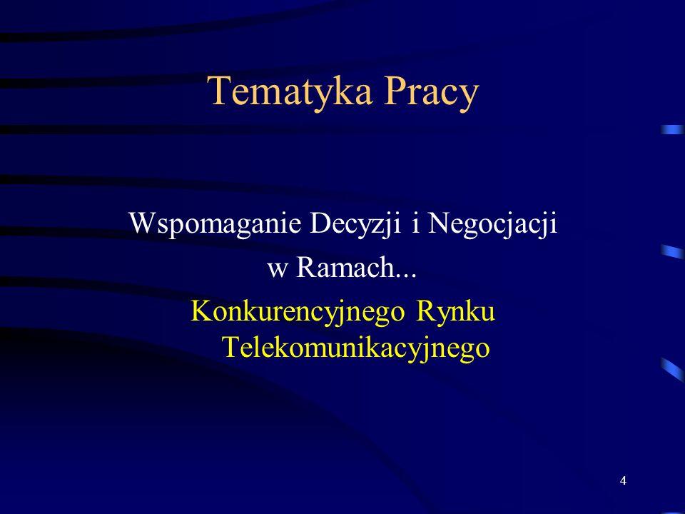 Tematyka Pracy Wspomaganie Decyzji i Negocjacji w Ramach...