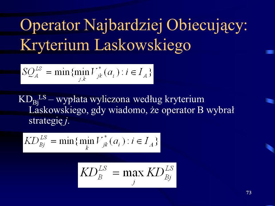 Operator Najbardziej Obiecujący: Kryterium Laskowskiego