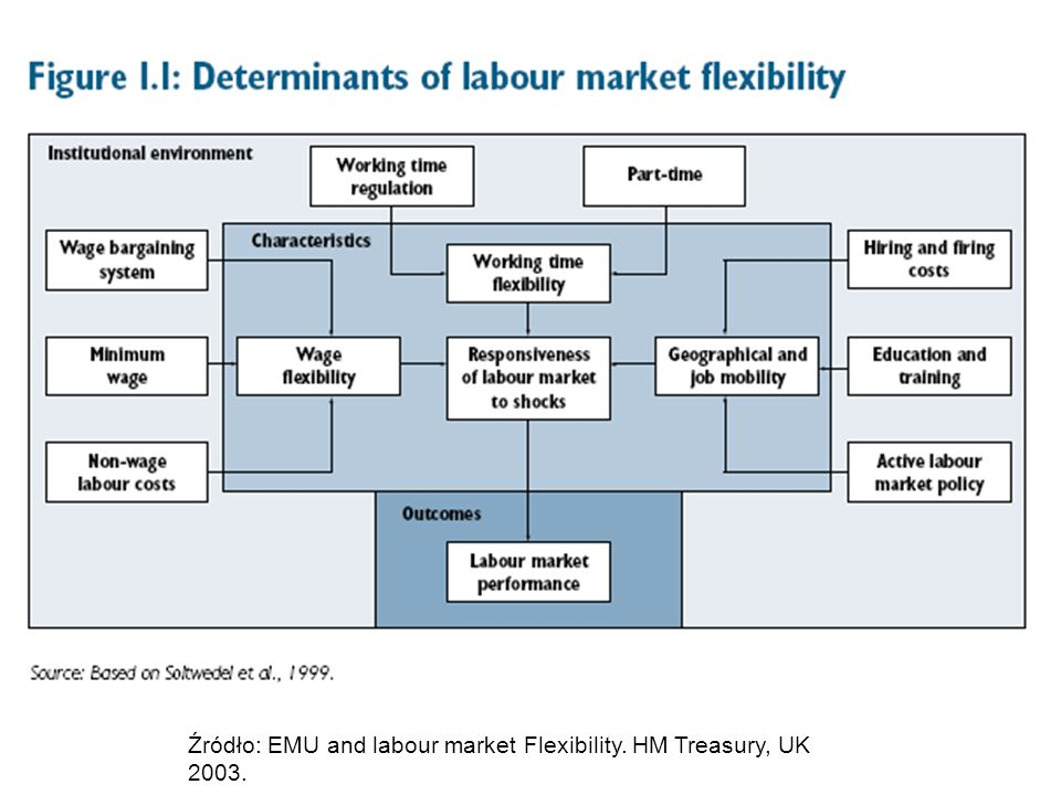 Źródło: EMU and labour market Flexibility. HM Treasury, UK 2003.