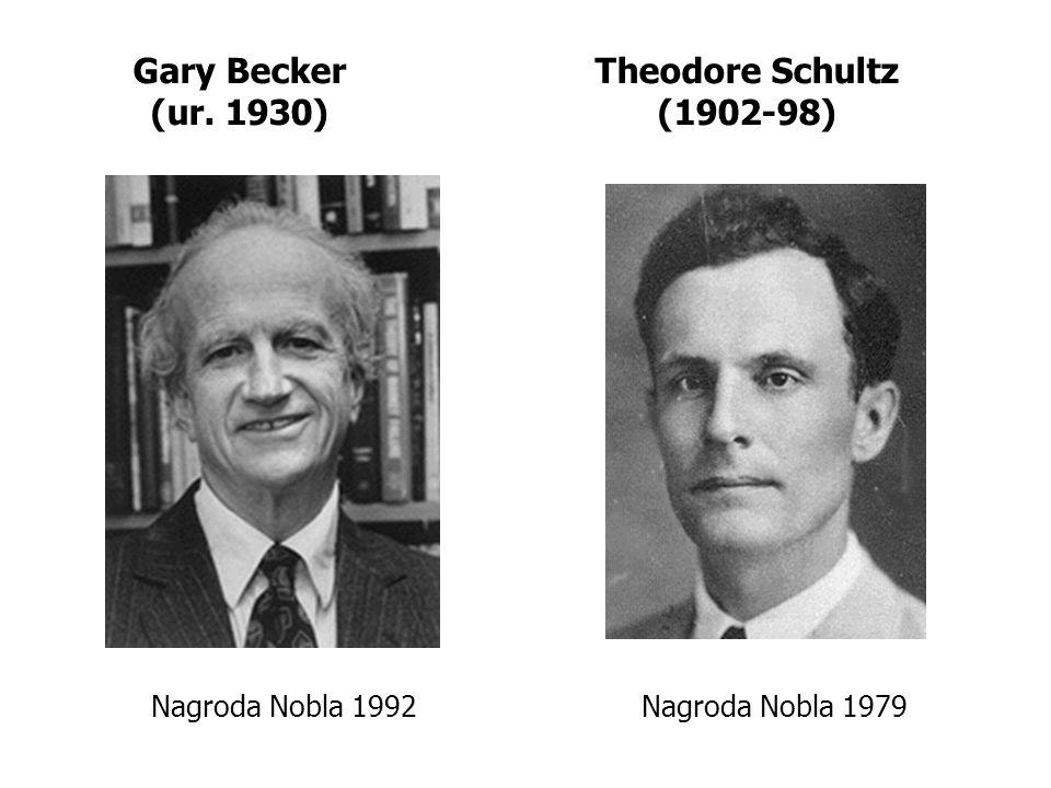 Gary Becker (ur. 1930) Theodore Schultz (1902-98)