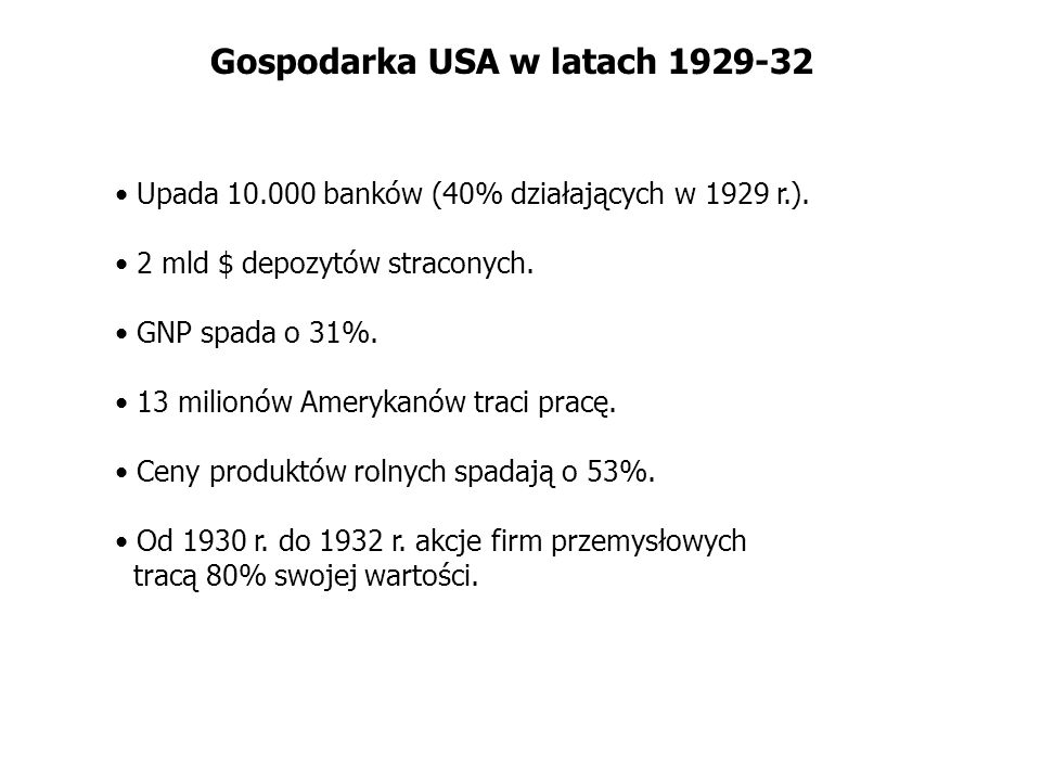 Gospodarka USA w latach 1929-32