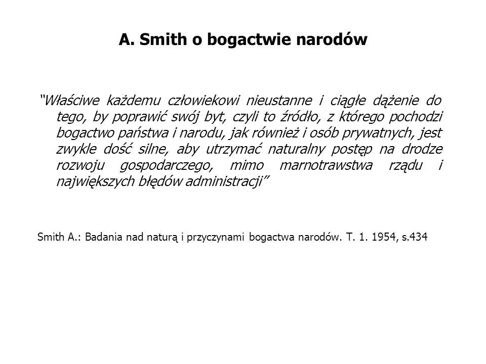 A. Smith o bogactwie narodów
