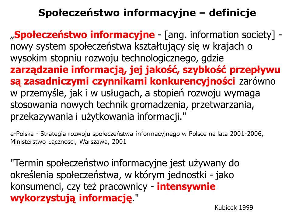 Społeczeństwo informacyjne – definicje