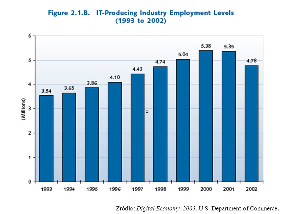 Źródło: Digital Economy, 2003, U.S. Department of Commerce.
