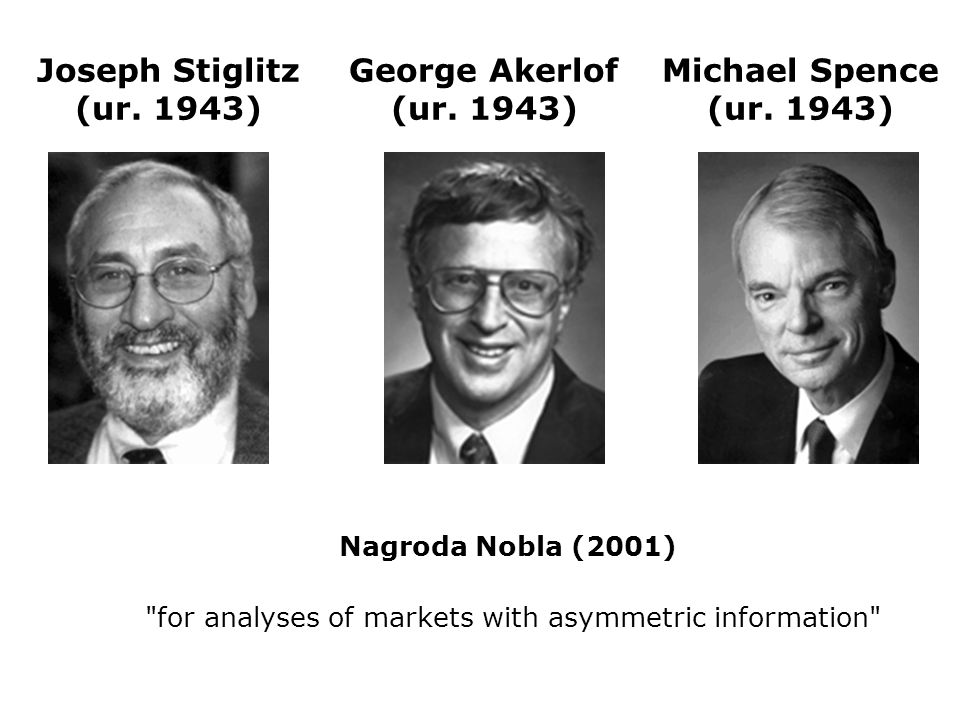 for analyses of markets with asymmetric information
