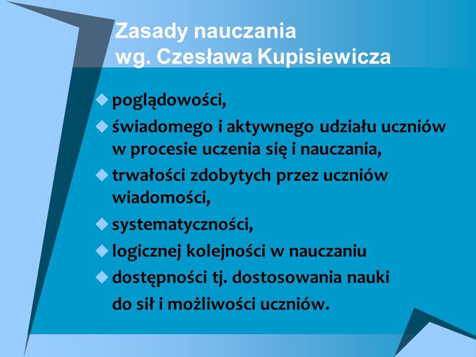 Zasady nauczania wg. Czesława Kupisiewicza