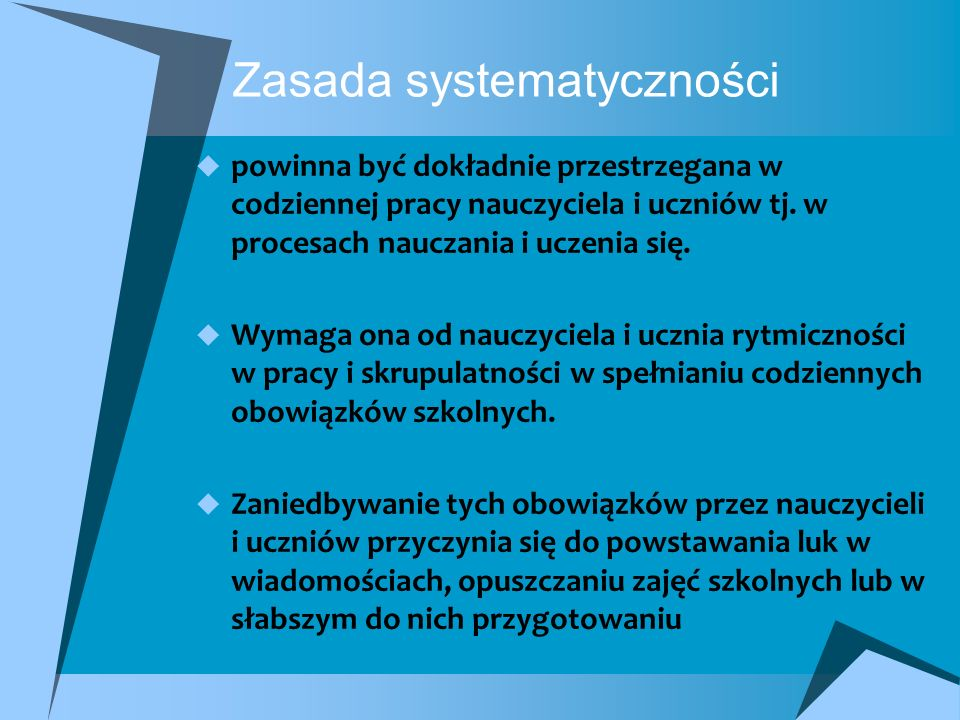 Zasada systematyczności