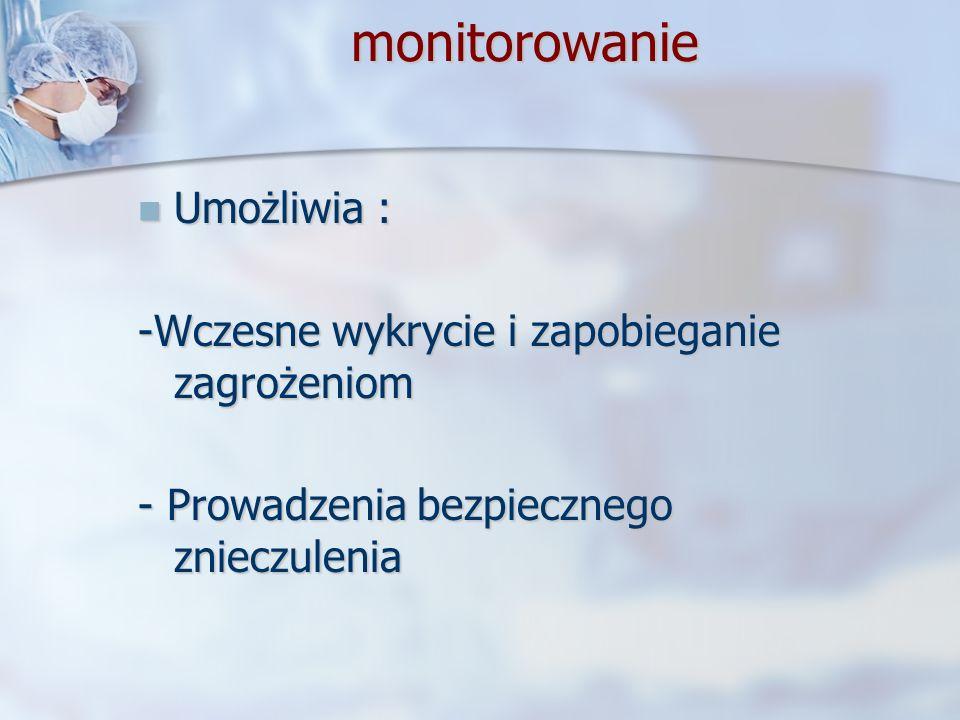 monitorowanie Umożliwia : -Wczesne wykrycie i zapobieganie zagrożeniom