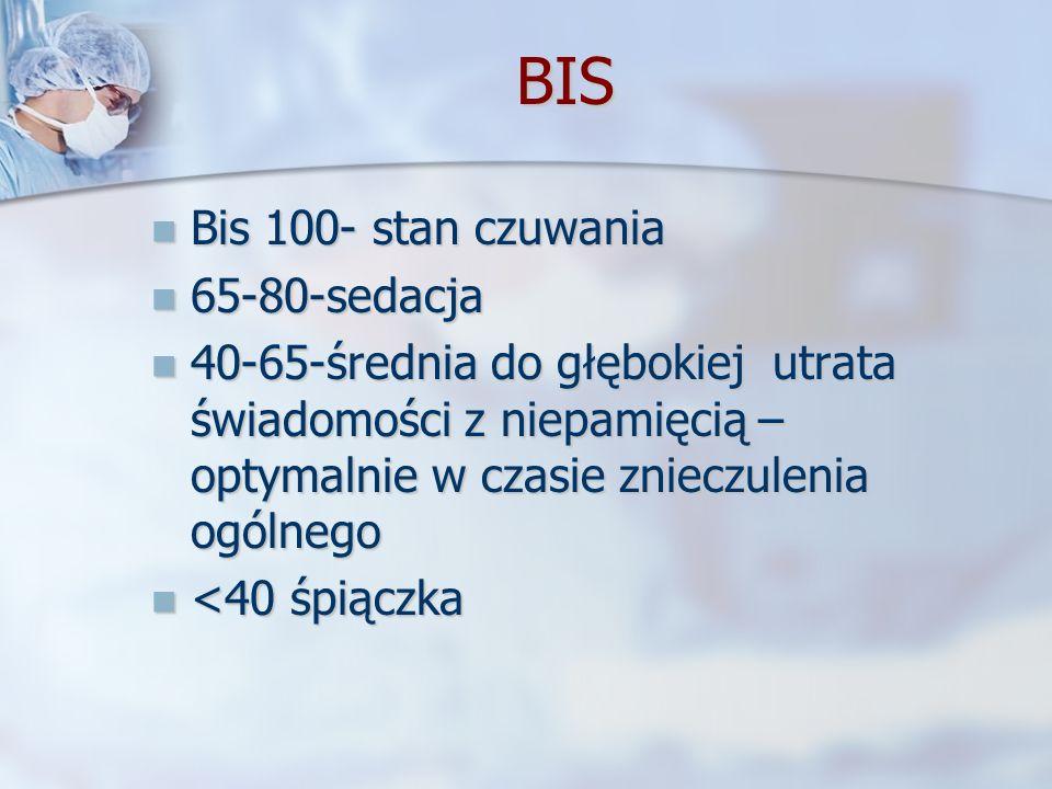 BIS Bis 100- stan czuwania 65-80-sedacja