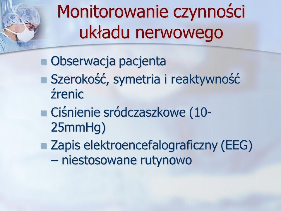 Monitorowanie czynności układu nerwowego
