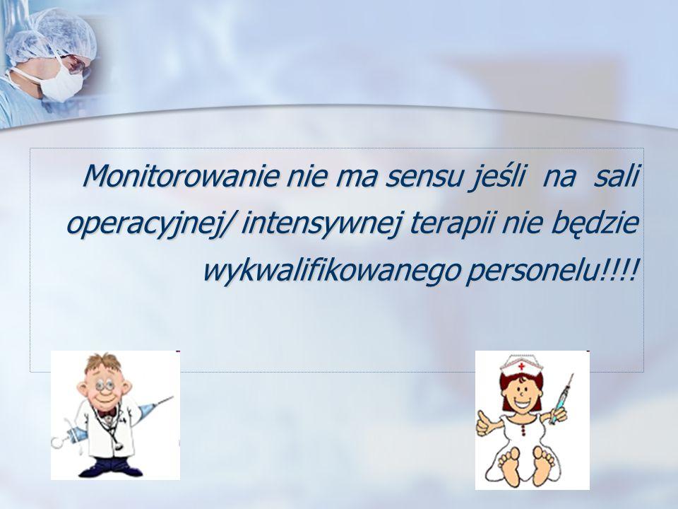 Monitorowanie nie ma sensu jeśli na sali operacyjnej/ intensywnej terapii nie będzie wykwalifikowanego personelu!!!!