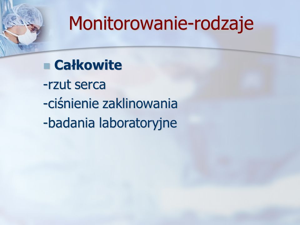 Monitorowanie-rodzaje