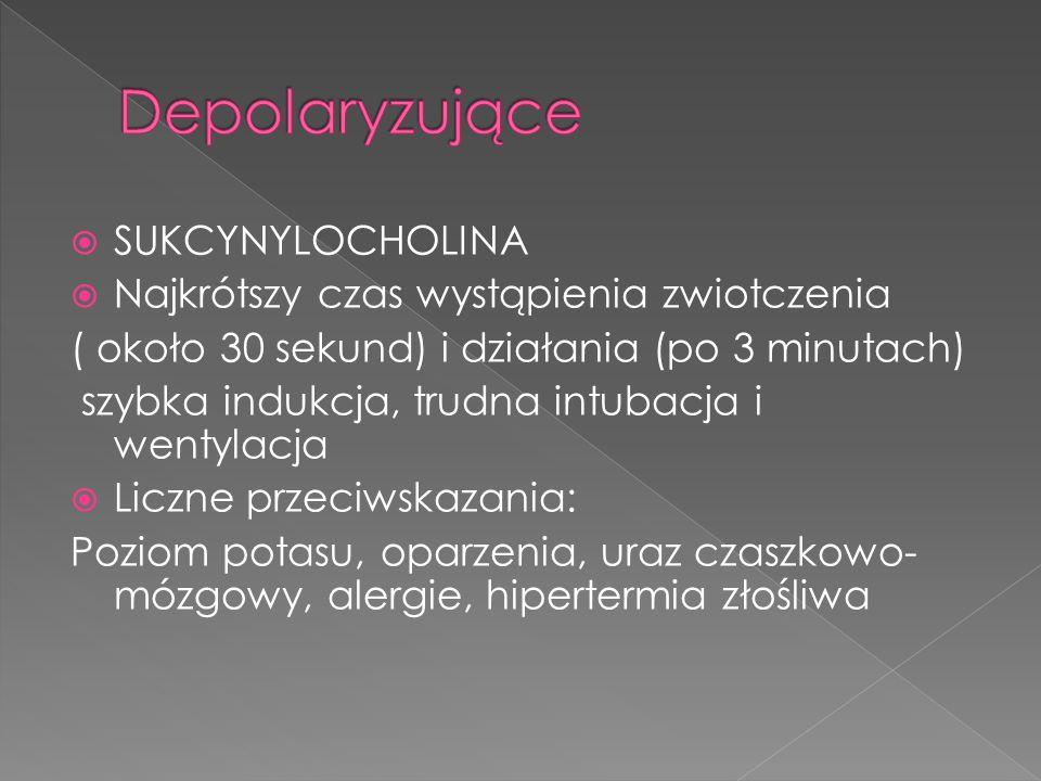 Depolaryzujące SUKCYNYLOCHOLINA