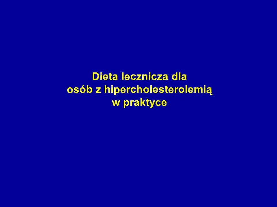 osób z hipercholesterolemią