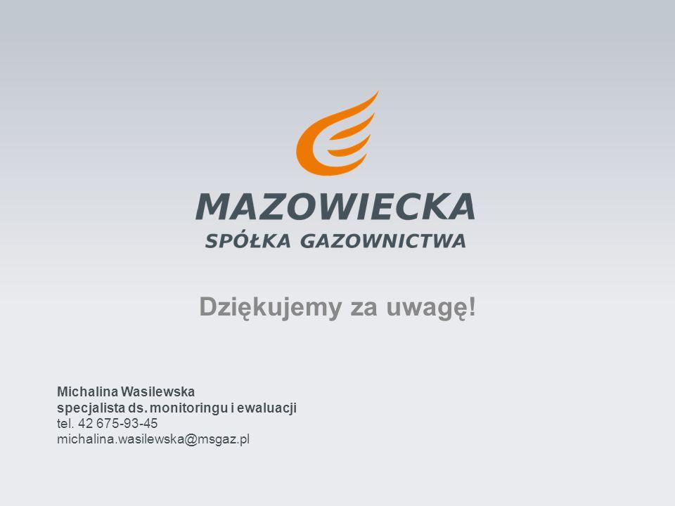 Dziękujemy za uwagę! Michalina Wasilewska