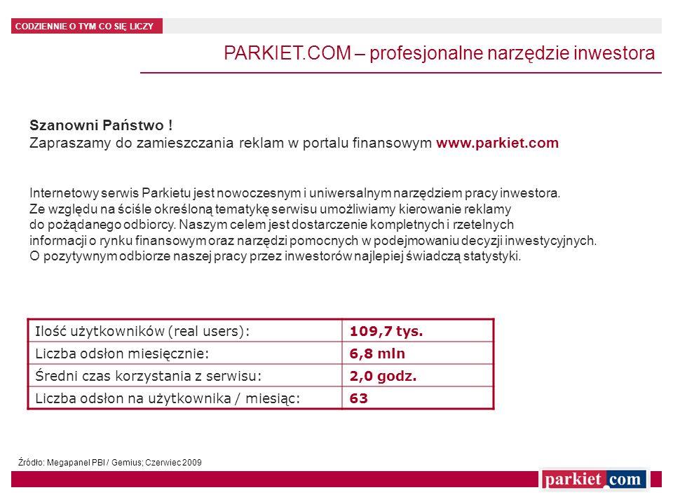 PARKIET.COM – profesjonalne narzędzie inwestora