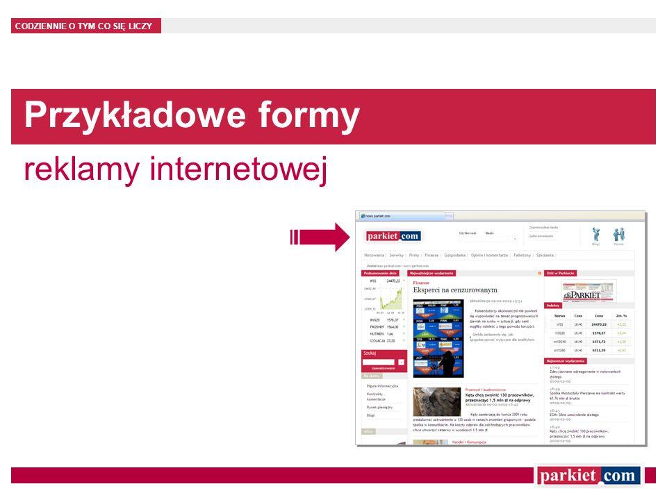 Przykładowe formy reklamy internetowej