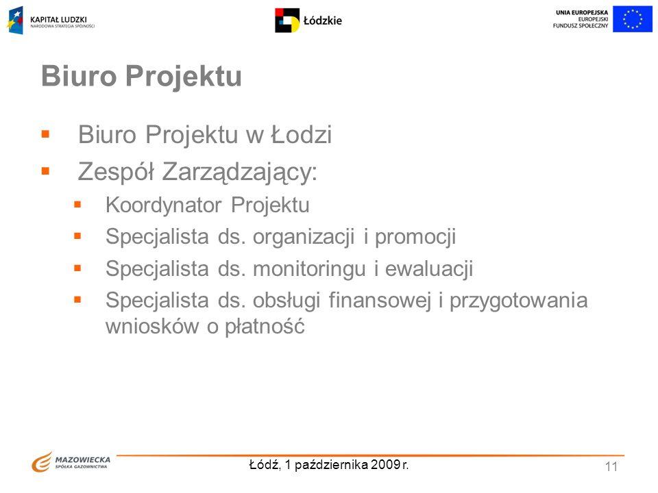 Biuro Projektu Biuro Projektu w Łodzi Zespół Zarządzający: