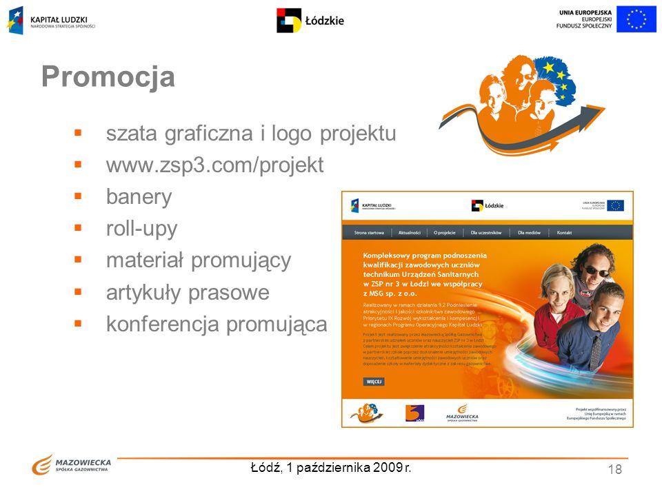 Promocja szata graficzna i logo projektu www.zsp3.com/projekt banery