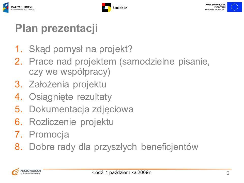 Plan prezentacji Skąd pomysł na projekt