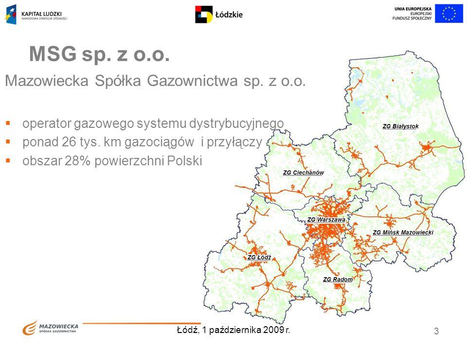 MSG sp. z o.o. Mazowiecka Spółka Gazownictwa sp. z o.o.
