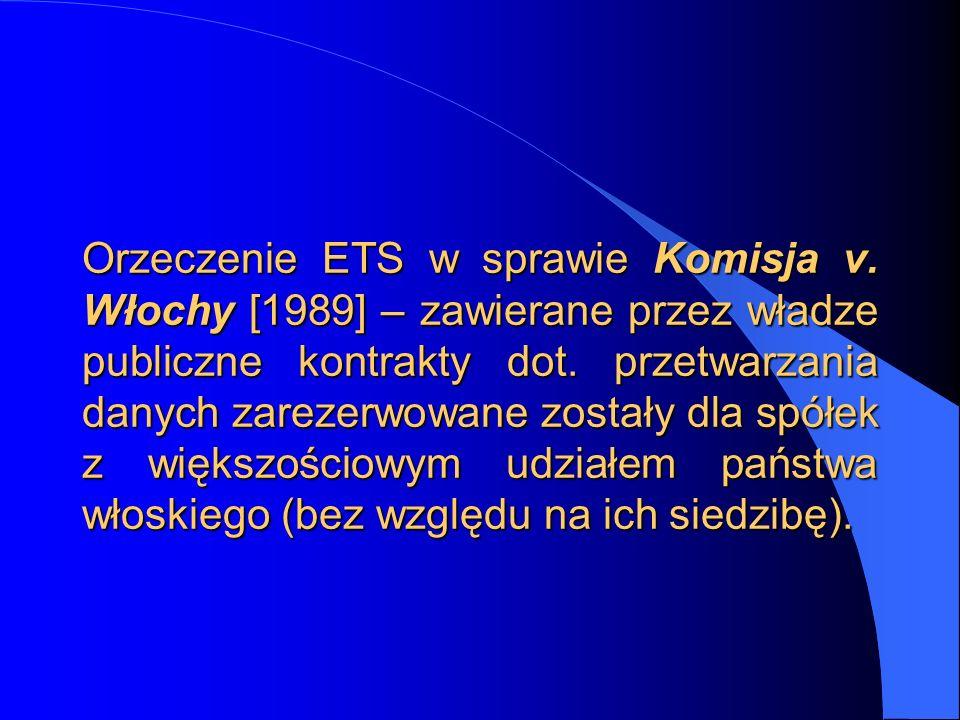 Orzeczenie ETS w sprawie Komisja v