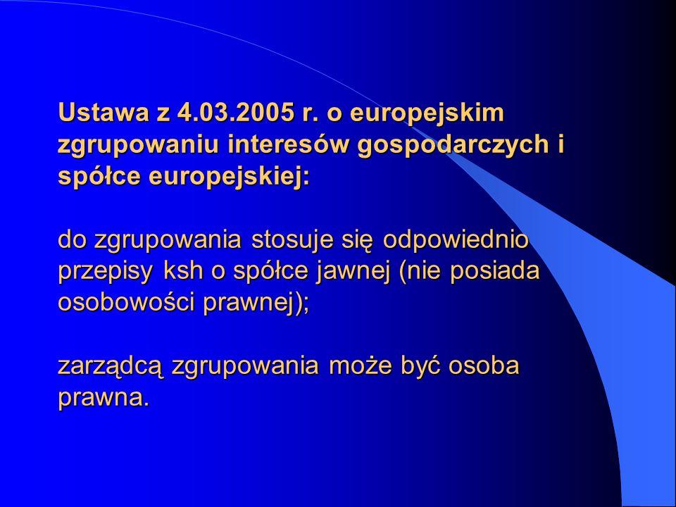 Ustawa z 4.03.2005 r.