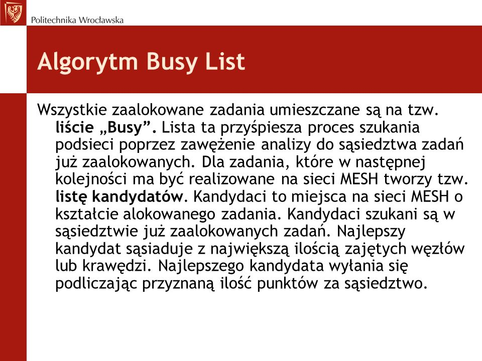 Algorytm Busy List