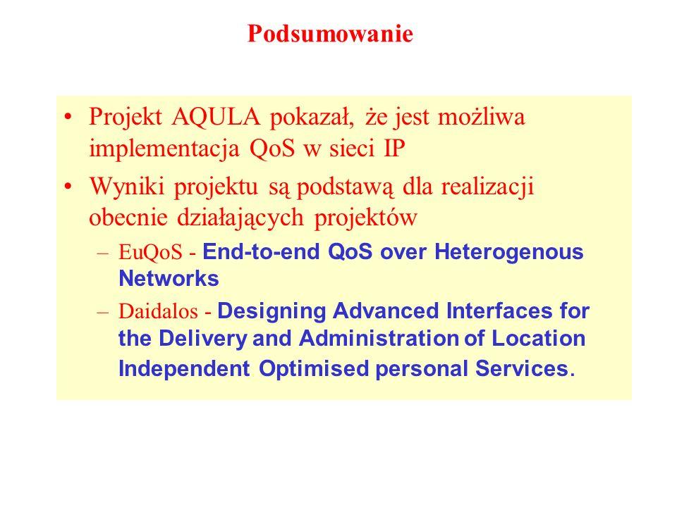Projekt AQULA pokazał, że jest możliwa implementacja QoS w sieci IP