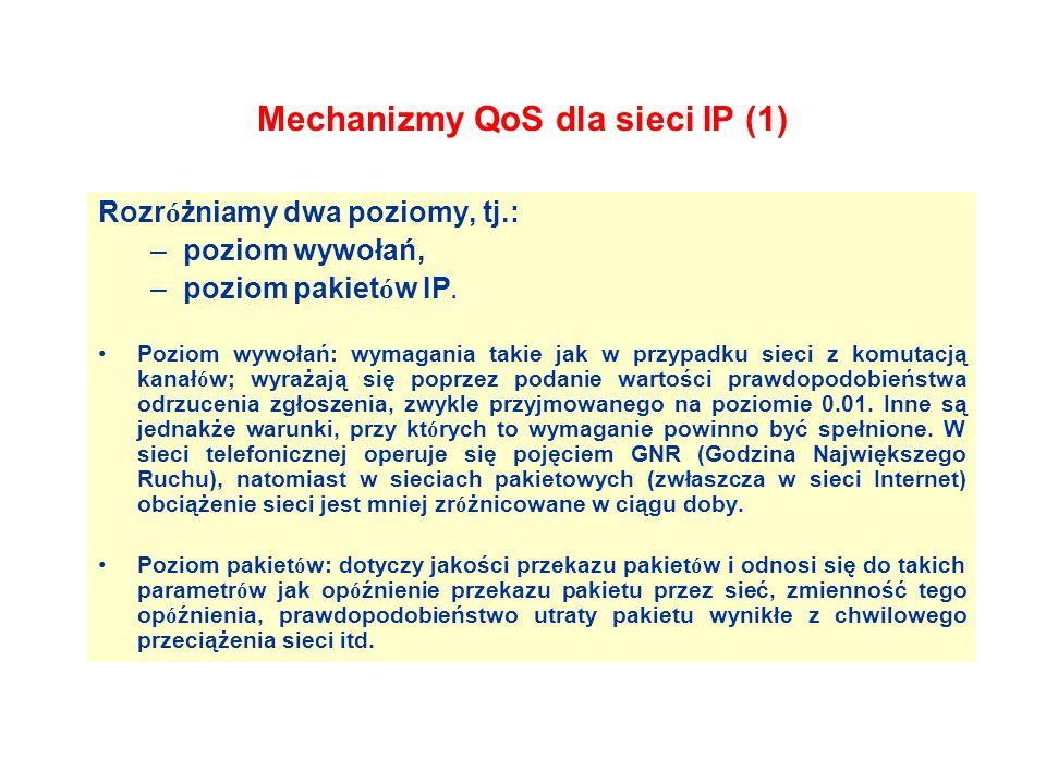 Mechanizmy QoS dla sieci IP (1)