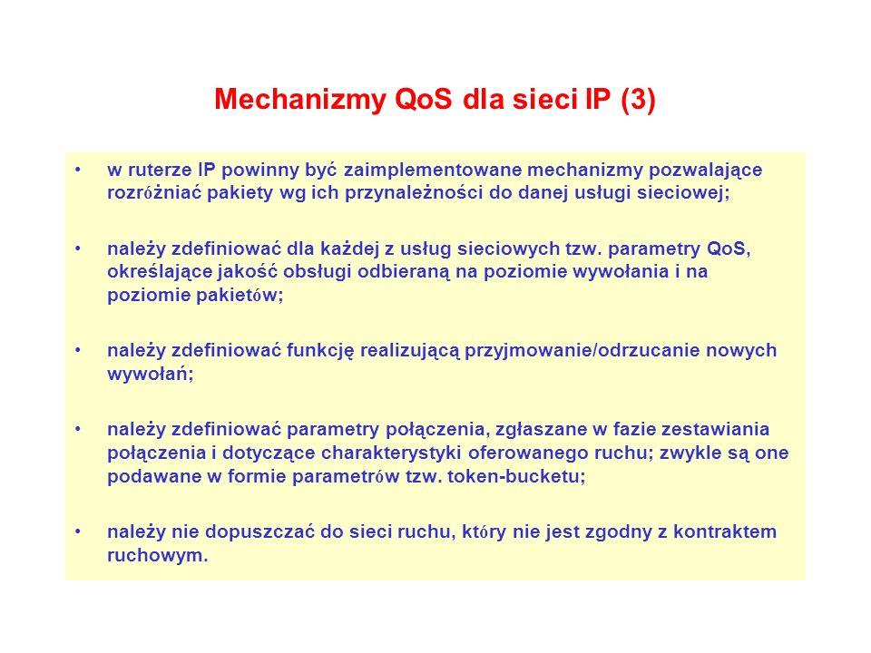 Mechanizmy QoS dla sieci IP (3)