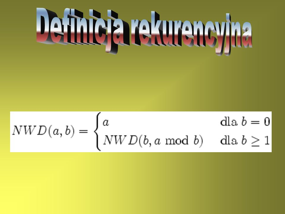 Definicja rekurencyjna