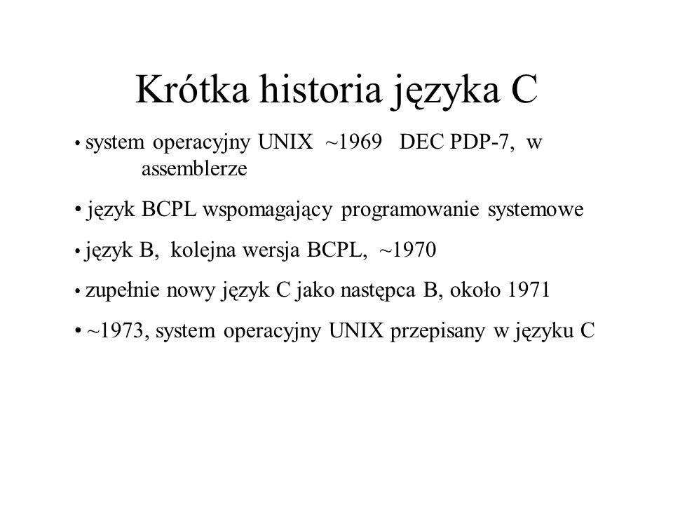 Krótka historia języka C
