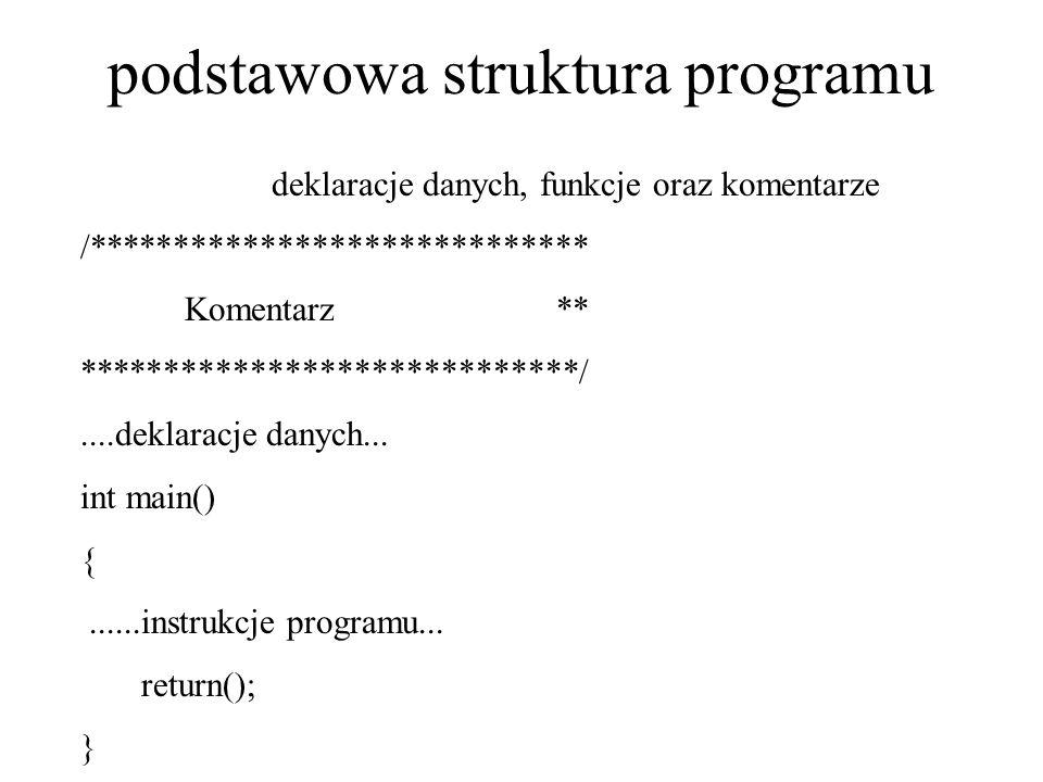 podstawowa struktura programu