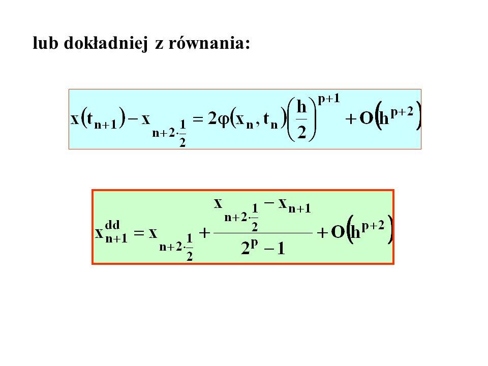 lub dokładniej z równania:
