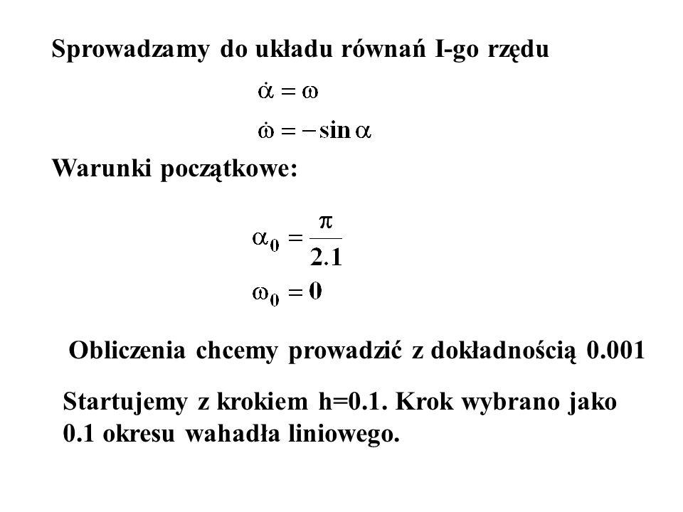 Sprowadzamy do układu równań I-go rzędu
