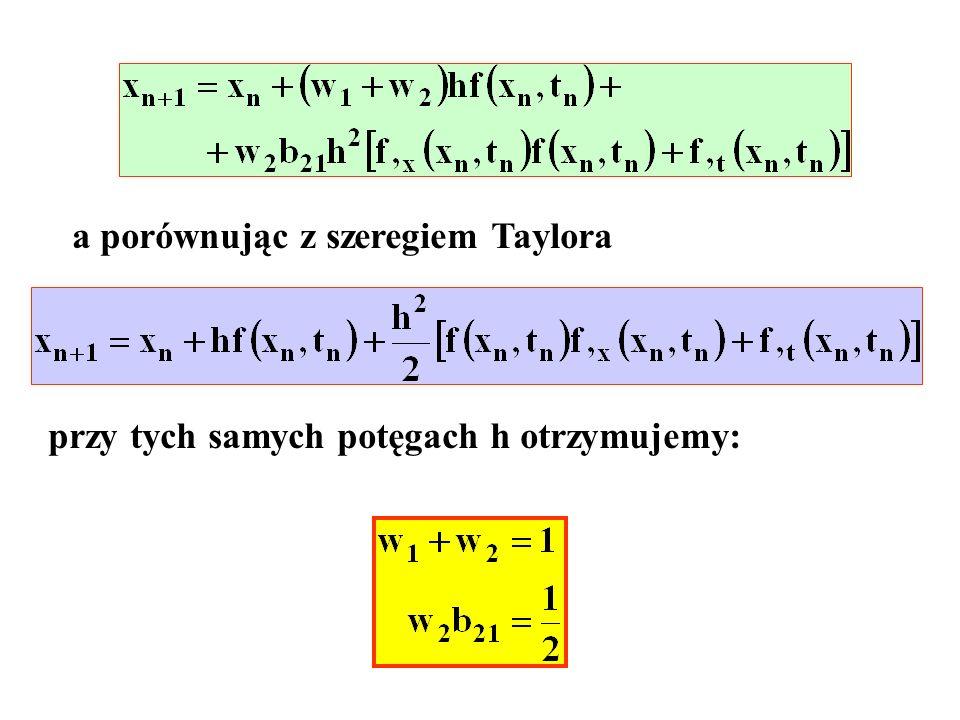 a porównując z szeregiem Taylora