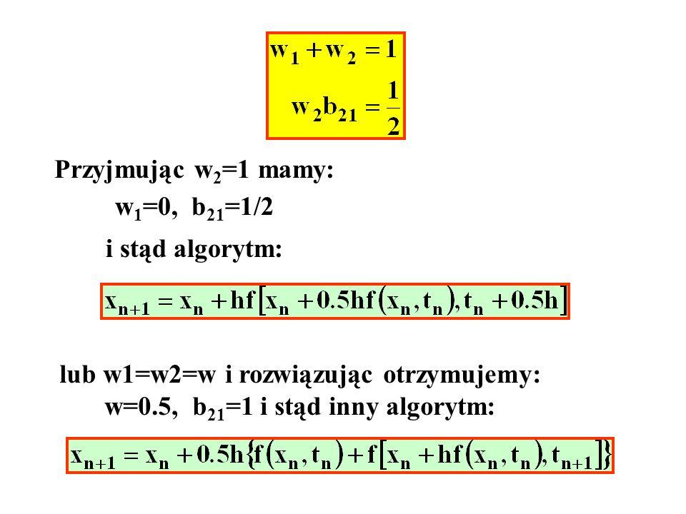 lub w1=w2=w i rozwiązując otrzymujemy: