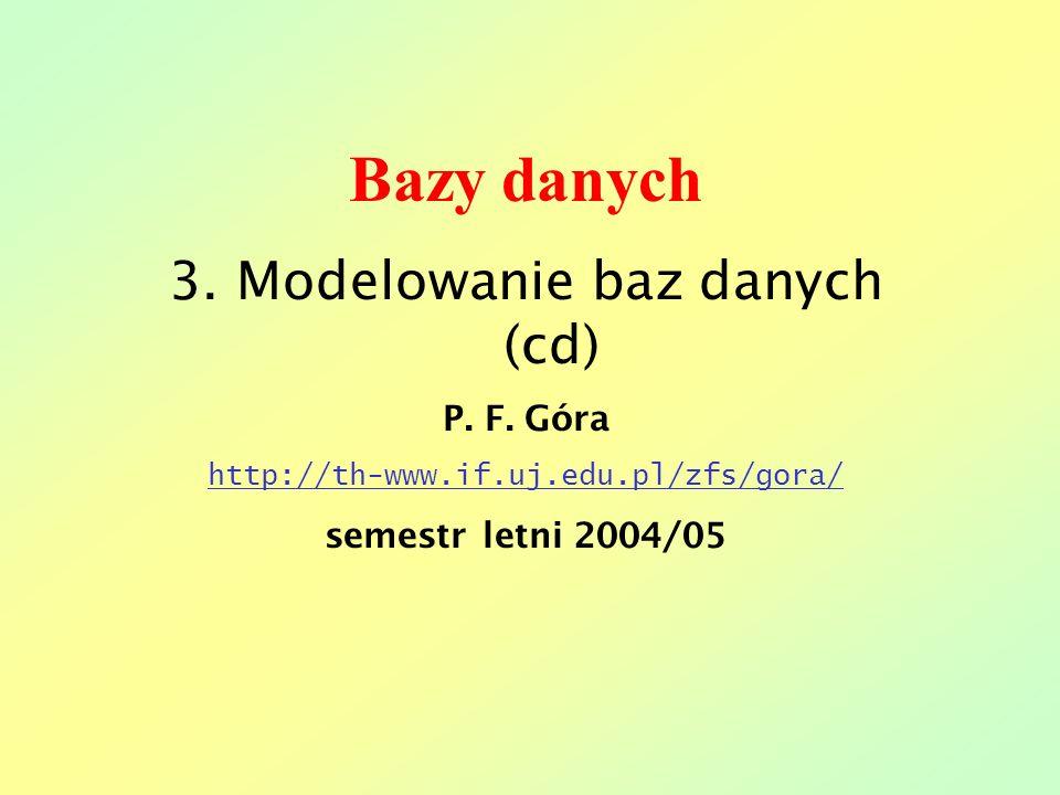 3. Modelowanie baz danych (cd)