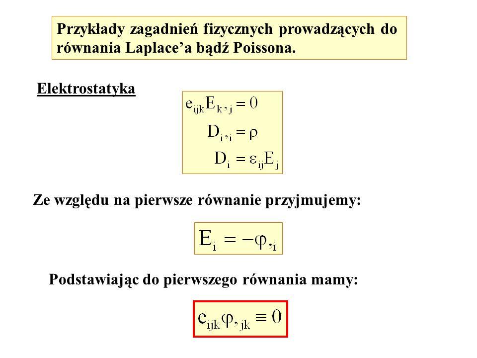 Przykłady zagadnień fizycznych prowadzących do