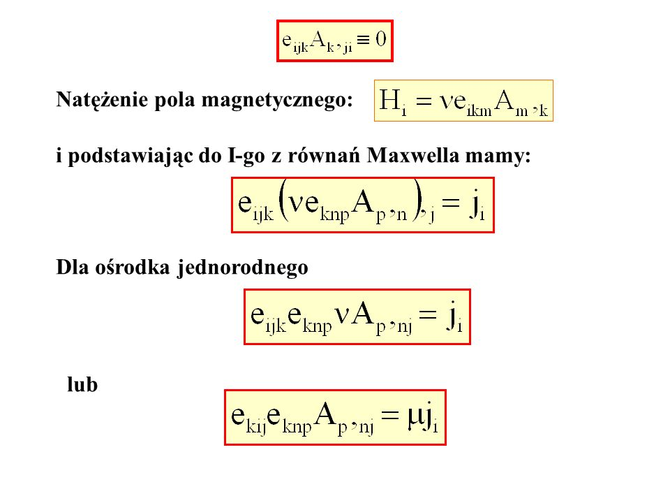 Natężenie pola magnetycznego: