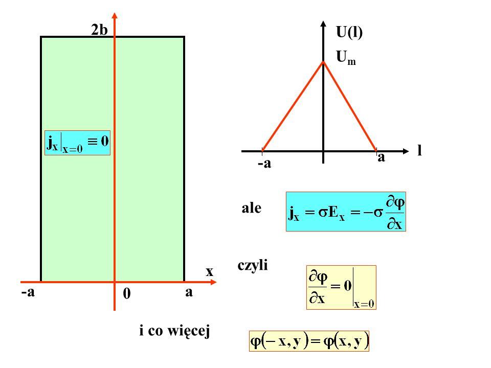 2b U(l) Um l a -a ale czyli x -a a i co więcej