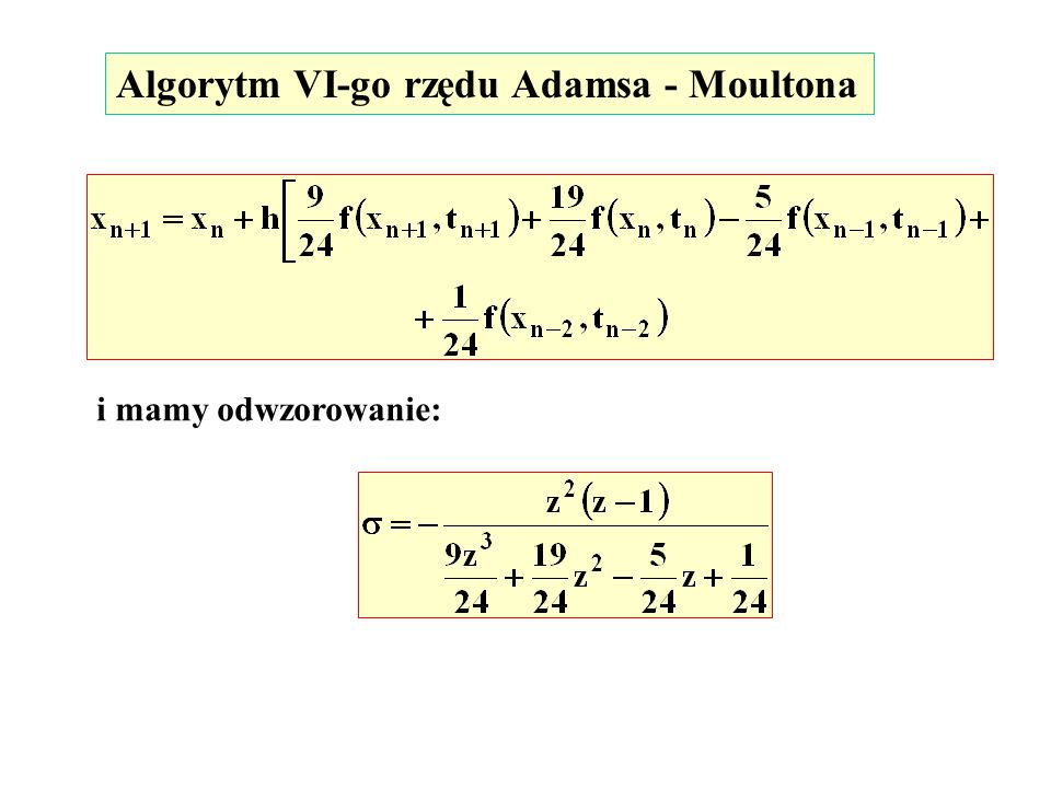 Algorytm VI-go rzędu Adamsa - Moultona