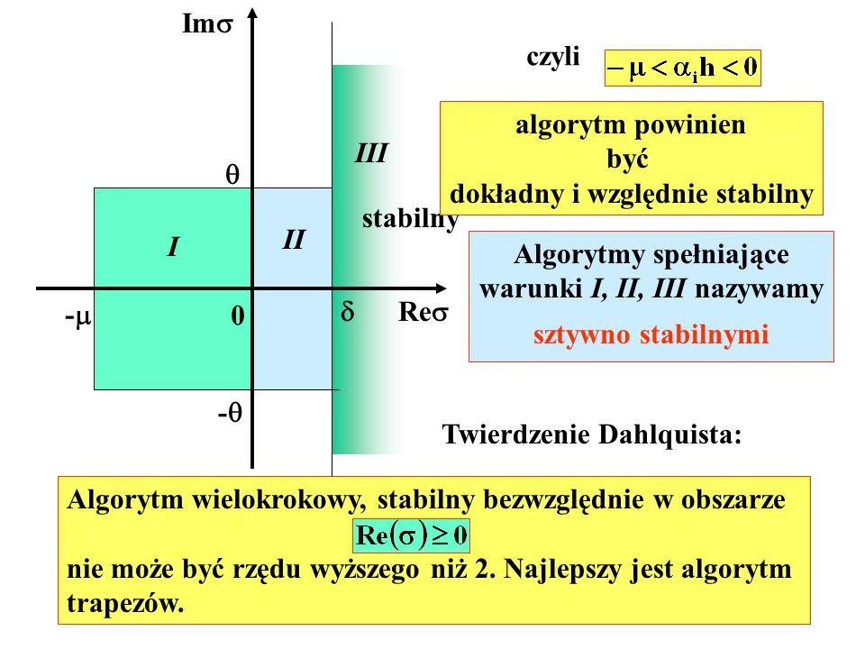 dokładny i względnie stabilny III 
