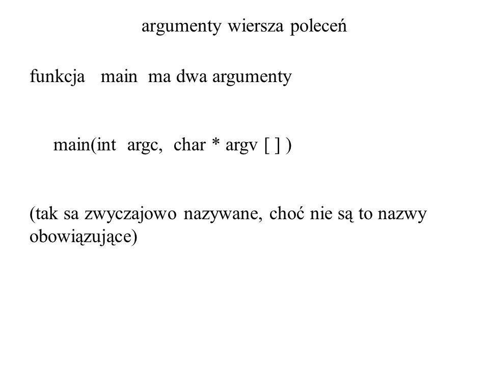 argumenty wiersza poleceń